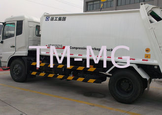 Collecting Refuse Rear Loader Garbage Truck